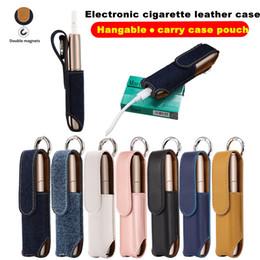 Estojo de couro para cigarros eletrônicos on-line-Caso de couro de cigarro eletrônico para novo IQOS3 denim caso IQOS3.0 MULTI saco de armazenamento Hangable Cig Box Carry Case bolsa
