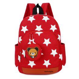 Oxford crianças escola mochilas on-line-Crianças mochila infantil Star impresso saco de escola dos desenhos animados do jardim de infância 3-5 anos bebê Oxford ombro duplo grande capacidade bolsas de mão