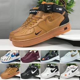 nike air force 1 one Dunk scarpe da corsa per uomo donna dunk utility di alta qualità bianco nero arancione grano alto basso uomo sneakers sportive