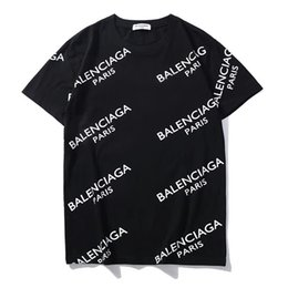 Para mujer para hombre camiseta con marca de impresión de la letra 2019 nueva moda tendencia Top Tees manga corta Casual Tees S-2XL * 21 desde fabricantes