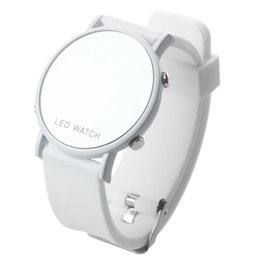 2019 силиконовые спортивные часы белые OPQ-силиконовые светодиодные часы женские часы спорт браслет белый ремешок дешево силиконовые спортивные часы белые