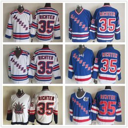 Wholesale Retro New York Rangers Jersey 35 Mike Richter 1998 Statue Of  Liberty Vintage CCM Authentic Stitched Ice Hockey Jerseys b513a1ff0