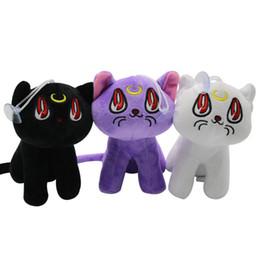 2019 doraemon plush 18 cm / 7 polegadas novo preto branco gato roxo brinquedos de pelúcia dos desenhos animados Bichos de pelúcia macia qualidade boneca boa presentes pingente de Natal C2280