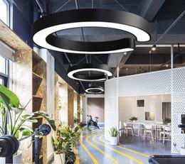 nettes schlafzimmer pendelleuchten Rabatt Round Ring LED Hängeleuchten Industry Style Aluminium Deckenleuchten Premium Office Fitness Lounge Konferenzbeleuchtung MYY