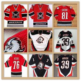 Jersey hockey vintage xl online-Buffalo Sabres Vintage 48 Daniel Briere 39 DOMINIK HASEK 29 JASON POMINVILLE 9 DEREK ROY Jason Woolley Brian Campbell Curtis Brown Maglie