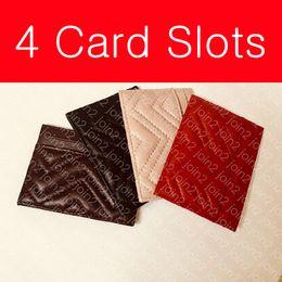 Tarjeta de crédito organizador billetera mujer online-MARMONT CARD CASE 443127 Diseñador de moda para mujer, tarjeta de moneda, llavero, mini organizador, billetera, cuero, 4 ranuras para tarjetas, diseño de Chevron, caja