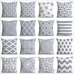 travesseiros decorativos cinza Desconto Travesseiros Almofada geométrica Nordic Decorativo Travesseiro Tampa Do Sofá Almofadas Almofadas Decoração de Casa Capa de Almofada Cinza Travesseiro DHL Livre