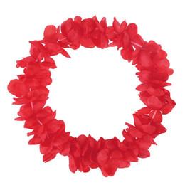 Pano havaí on-line-1 pcs Engrossar Hawaii Garland pano da flor laço Leis Hula Dança Hawaii Leis Decor para Lady Mulher