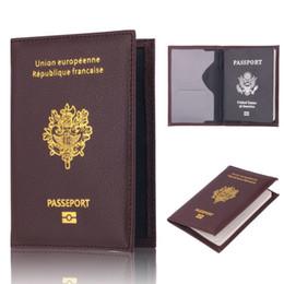 2019 billige passbörsen Frankreich Reisepassinhabers Tasche Multifun Günstige Leder Mode Französisch Passdecke Brieftasche Für Männer Frauen günstig billige passbörsen