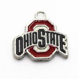 jóia do estado de ohio Desconto NCAA Equipe Ohio State Buckeyes 20pcs / lot encantos Sports Dangle DIY Colar Pulseira de jóias pingente pendurado encantos