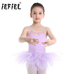 IEFIEL Vestido Maillot de Ballet Danza Ni/ñas Traje de Jazz Baile Latin de Lentejuelas Leotardo con Falda Tutu Pluma Mono sin Mangas Ropa de Actuaci/ón Fiesta