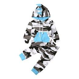 2019 chapéus bola de futebol Ativo bebé Camo Define Fatos Dinosaur Hoodie Tops + calças compridas Primavera Outono Baby Boy Algodão Outfits Sportswear 0-24M