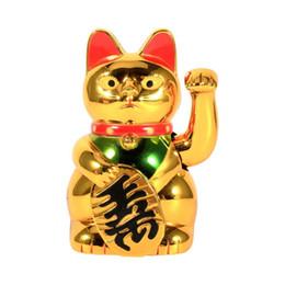 Grande main d'or chat ondulant patte en l'air richesse prospérité accueillant chat bonne chance chat feng shui décoration ? partir de fabricateur