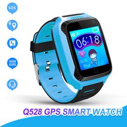 Камера вызова онлайн-Смарт-часы Q528 для детей Часы с удаленной камерой Анти-потерянные дети SmartWatch LBS Tracker Наручные часы SOS Call для Android IOS