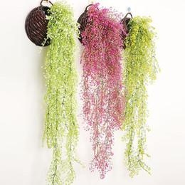 exposições de frutas falsas Desconto Flores de hera Artificial Silk Flor Wisteria Videira flor Rattan para Centros De Mesa de Casamento Decorações Bouquet Garland Wedding Decor