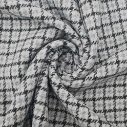 Клетчатая сатиновая ткань онлайн-YLSX Осень Серый и Черный Птица Плед Шарф Одеяло Атласная Ткань Ручной Работы Шерстяные Рубашки Ткани 150 см Х 50 см