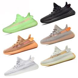 Zapatos de tenis resplandor online-2019 V2 Kanye West True Form Negro Reflectante Estático Gid Glow Clay Zebra Cream Blanco Beluga 2.0 Zapatos de sésamo Zapatillas de deporte de diseñador