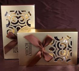 bomboniere all'ingrosso 500pcs bomboniere color cioccolato confezione da 6 buche baby shower carta caramelle confezione regalo scatole Ferrero Rocher supplier wholesale box ferrero rocher da scatola all'ingrosso ferrero rocher fornitori