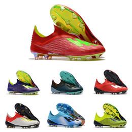 calzature di calcio all'ingrosso Sconti Calcio giovanile Boot X 18+ FG di alta qualità 18.1 19 + FG multicolor scarpe da calcio all'aperto Scarpe da calcio all'ingrosso Mens Soccer Cleat X 18