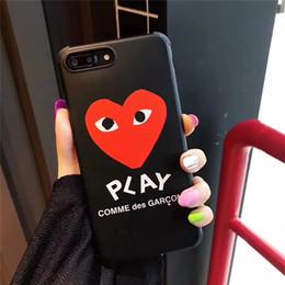 cas de téléphone de forme de pomme Promotion Coque One Piece Luxury pour iPhone 6S 7 8 P X XS Motif en forme de coeur avec anti-chute