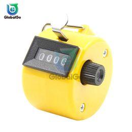 2019 medidor de luz sonora 4 Dígitos Contadores de Números de Plástico Shell Mão Dedo Display Contador Manual Tally Clicker Temporizador de Futebol Contador de Golfe Esporte Anel Chave