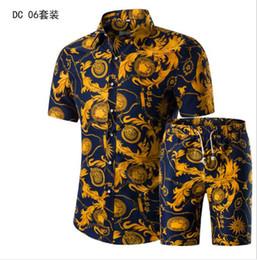 Hommes Chemises + Shorts Set New Summer Casual Imprimé Hawaiian Shirt Homme Court Mâle Impression Robe Costume Ensembles Plus La Taille ? partir de fabricateur