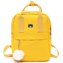 de53893a0712 2019 FashionHairball Preppy Style Canvas Female Backpack For Teenager Girls  School Bag Fashion Cute Backpack Bookbag Mochila Feminina
