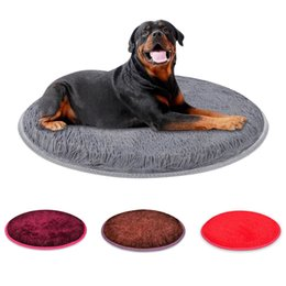 2020 almohadas de cachorro Fleece Dog Bed Sofa Dog Cat Pet Cojín para perros Gatos Lavable Nest Cat Teddy Puppy Mat Kennel Round Pillow Pet House Supplies almohadas de cachorro baratos