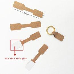 Etiqueta de etiquetas de papel on-line-100 pcs 1.2x6 cm Marrom Livro Branco Etiquetas de Cartão de Exibição de Jóias Etiqueta Do Anel Hangtag Em Branco Preço Etiqueta de Papel Etiquetas de Embalagem