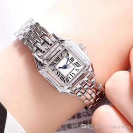 Meninas de marca alta assistir on-line-Alta qualidade superior vestido de mulheres marca relógios de luxo Suqare Dial banda de aço inoxidável completa quartzo ocasional relógio para laides menina melhor dom feminino