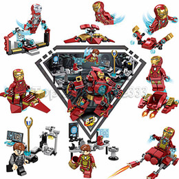 block toy heroes Promo Codes - 8 IN 1 Super Hero Avengers Movie Building Blocks Compatible Ys Marvel Robot Iron Man Technic Bricks Toy For Boy