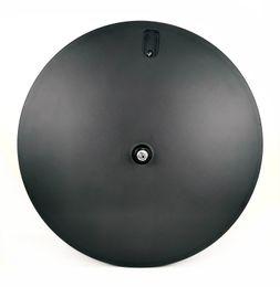 Discos de fibra de carbono online-Salida de fábrica 700C 23 mm de ancho ruedas de disco de fibra de carbono pista / bicicleta de carretera 3k / 12k ruedas de disco de remachado / ruedas de carbono tubulares