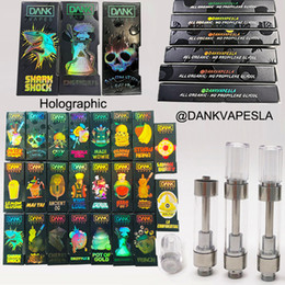 2019 billige öltanks Dank Vapes Kartuschen 0,8 ml 1 ml leere Einweg-Vape-Stifte 510 Gewinde-Ölkartuschen Vape-Kartuschen E-Zigaretten mit holografischer Verpackungsschachtel