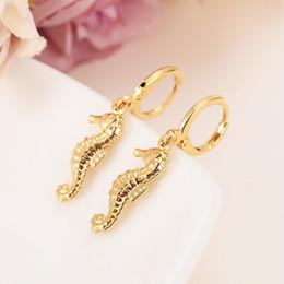 orecchini a vite Sconti Heap orecchini Bangrui carino ippocampo color oro rame orecchini donne / gril regalo bella carino animale fascino gioielli per bambini regalo fai da te ...