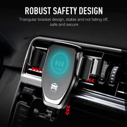 sumsang mobile Desconto Car Mount 10 W Qi Carregador Sem Fio Para o iphone XS Max X XR 8 Carga Rápida Rápida Sem Fio de Carregamento Pad Suporte Do Suporte Do Carro