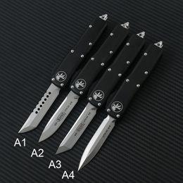 2019 mejores cuchillos pequeños MICROTECH automática MT 85 UTX cuchillo de doble acción tácticos navajas de bolsillo cuchillo manija de aluminio de herramientas automático EDC