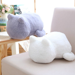 lion toy dolls Coupons - Kawaii Plush Staffed Cute Shadow Cat Dolls Kids Gift Doll Lovely Animal Toys 3 Colors Home Decoration Soft Pillows Q190521