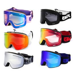 2019 магнитный цилиндр Lens Magnetic Ski Goggles Double Anti-Fog Large Cylinder Ski Glasses Single And Double Board Suitable For Shortsighted Lens дешево магнитный цилиндр