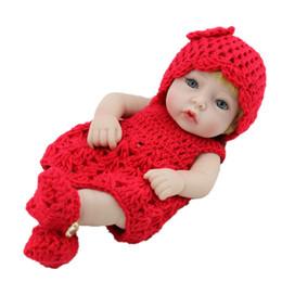 Mini muñecas de silicona renacer online-Realista Realista Baby Doll Reborn Recién Nacido Realike Hecho A Mano de Silicona Lindo Hecho a mano Realista Reborn Recién Nacido Bebé