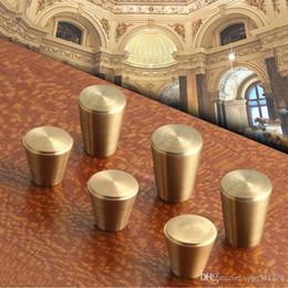 2019 tirando l'ottone d'ottone Manopole e maniglie in ottone massiccio Maniglie per cassetti Armadio Armadio Manopole Vintage Maniglioni per porte, tirando l'ottone d'ottone economici