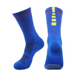 Asciugamani di yoga online-7205 2019 nuove calze da basket elite sudore assorbente antiscivolo calze da uomo mens calze da basket sport tidehose in tubo
