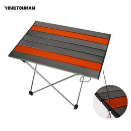 2020 складные столы для пикника YINGTOUMAN Открытый Посуда Портативный складной складной стол стол Кемпинг Открытый стол для пикника Сверхлегкая Посуда стол скидка складные столы для пикника
