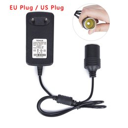 eu stecker mini-auto-ladegerät Rabatt 12V 3A Auto-Zigarettenanzünder-Mini 3A EU / US-Stecker 110 / 240V AC-DC-Wandler-Transformator-Buchse Adapter Ladegerät für Auto GPS E-Dog