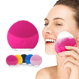 machine facial brushes Promo Codes - Mini Electric Facial Cleaning Massage Brush face cleansing facial massager for washing face cleaner facial cleanser machine