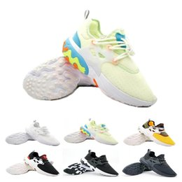 shoes flat feet men Promo Codes - Hot Sale Presto Mid Epic React Men Women Running Shoes Comfortable Foot Feel Mesh Breathable Sneakers Black White Casual Shoes