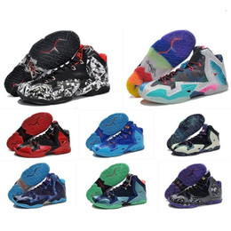 original basketball shoes for sale Coupons - The What Lebron 11 Xi Basketball Shoes Men For Sale Lebrons 11s Christmas Bhm Oreo Youth Kids Generation Sneakers Boots With Original Box