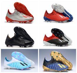 Genuinos 2019 grapas de fútbol para hombre X 19.1 FG Predator botas de fútbol zapatos de fútbol al aire libre Tacos de futbol apagón de alta calidad