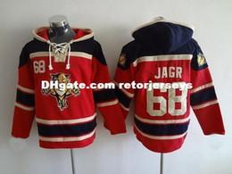 Лучшие цены на хоккейный джерси онлайн-30 команд оптом Mens Florida Panthers # 68 jagr red Hoodies Jersey Трикотажные изделия для хоккея на льду, лучшее качество, низкая цена