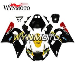 Argentina Carenado negro amarillo brillante de la motocicleta para Yamaha YZF 600 R6 1998 1999 2000 2001 2002 ABS Inyección de plástico Kits de motos cubiertas Suministro