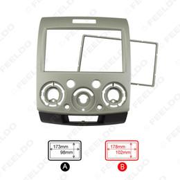 Ford dash kit on-line-Ouro 2DIN carro Montagem Quadro DVD kits de instalação fáscia painel de instrumentos estéreo para Ford Everest / guarda florestal / Mazda BT-50 # 1571
